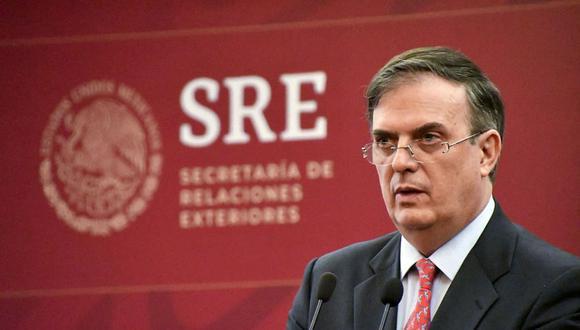 El canciller de México Marcelo Ebrard confirma su intención de lanzarse a la presidencia en el 2024. (AFP).