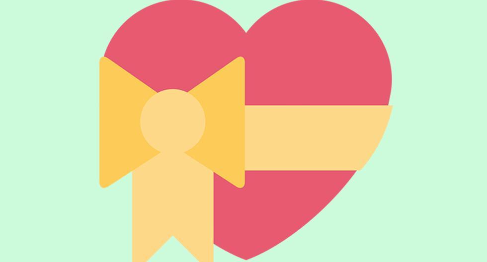¿Sabes qué significa realmente el emoji del corazón con un lazo amarillo? Esta es la verdad. (Foto: Emojipedia)
