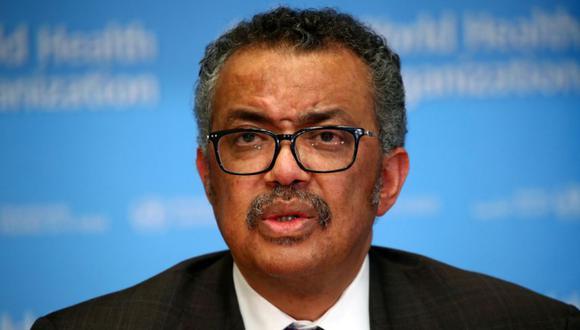Tedros Adhanom Ghebreyesus, director general de la OMS, en una conferencia sobre el coronavirus en 28 de febrero del 2020. (REUTERS/Denis Balibouse).