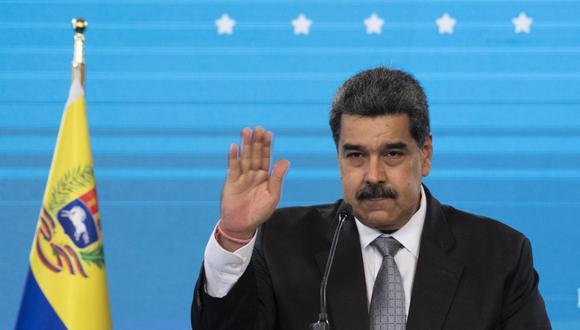 """Nicolás Maduro sostuvo que la reunión con el director de la OMS, Tedros Adhanom Ghebreyesus, fue """"muy productiva"""".  (Foto: Yuri CORTEZ / AFP)"""