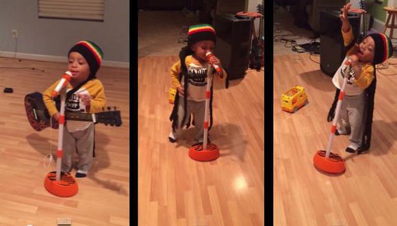 YouTube: niño de 2 años hizo la mejor imitación de Bob Marley