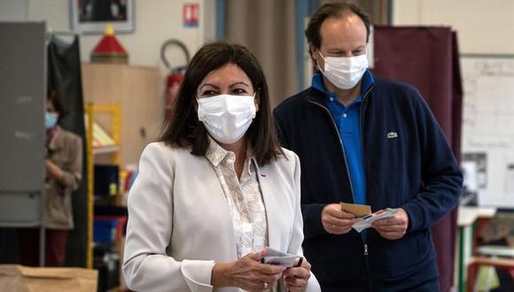 Anne Hidalgo consigue segundo mandato como alcaldesa de París (EFE/EPA/JOEL SAGET / POOL MAXPPP OUT).