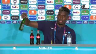 Pogba sigue los pasos de Cristiano Ronaldo y retira botella de Heineken