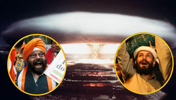 ¿Cuál es el poderío nuclear de Pakistán y la India? (AFP)