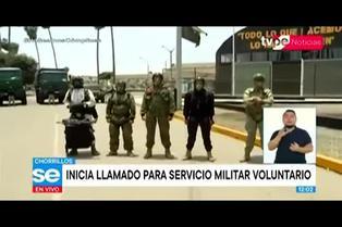 Ejército del Perú inicia convocatoria para servicio militar voluntario