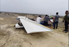 Piura: avioneta se queda sin combustible y cae en terreno baldío   VIDEO