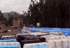 Huancavelica: denuncian abandono de módulos de vivienda en local municipal