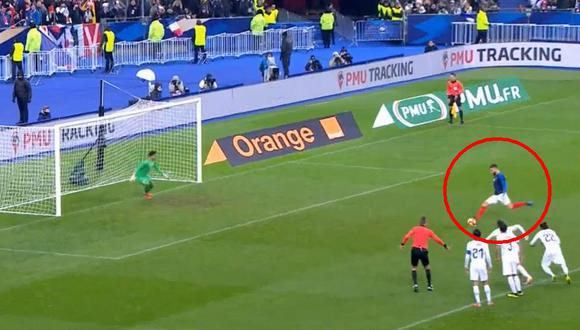 Uruguay vs. Francia EN VIVO: Olivier Giroud marcó 1-0 con gol de penal   VIDEO (Foto: Captura de pantalla)