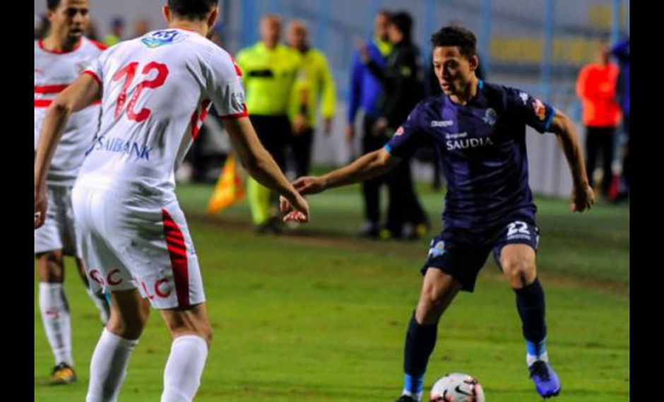 La asistencia de Cristian Benavente en la liga de Egipto. (Foto: Pyramids FC)