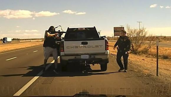 El oficial de policía, Darian Jarrott, fue asesinado por un traficante de drogas en un control de tránsito de rutina. (Foto: Departamento de policía de Nuevo México /La Nación de Argentina, vía GDA).