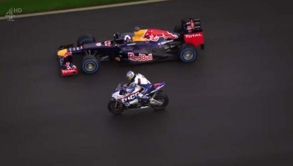 Duelo entre una Superbike y un Fórmula 1 [VIDEO]