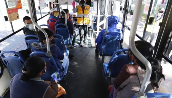 Cusco: buses de transporte urbano operarán con el 100% de asientos
