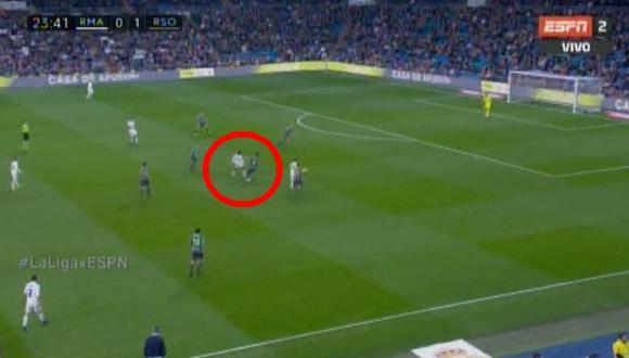 Real Madrid vs. Real Sociedad EN VIVO vía ESPN 2: Vinicius Junior regaló fantasía en el Bernabéu | VIDEO. (Foto: Captura de pantalla)
