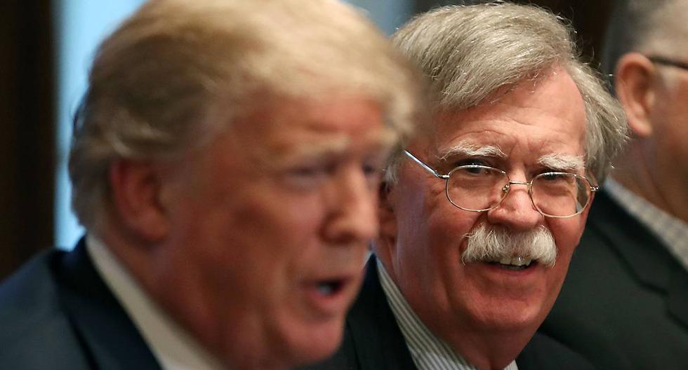 Donald Trump incrementó este miércoles sus ataques contra su exasesor de seguridad nacional John Bolton. (Foto: AFP)
