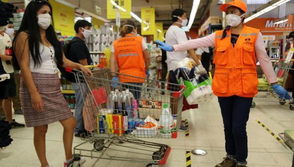 Comuna de Lima inspeccionó medidas sanitarias en bancos y supermercados por Estado de Emergencia. (Foto: MML)
