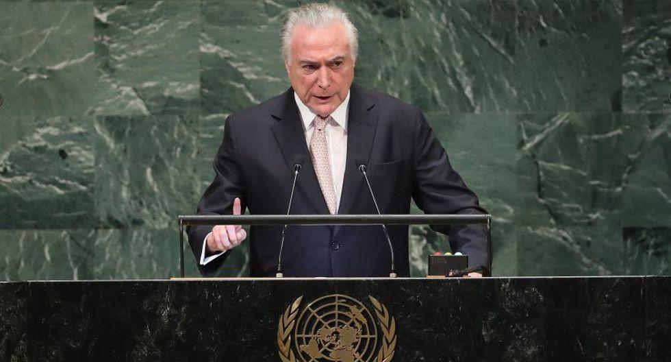 ONU: Michel Temer destaca la gran acogida de venezolanos en Brasil. (AFP)
