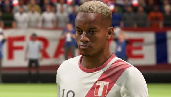FIFA 19 Gameplay. En la foto, el futbolista peruano André Carrillo. (Captura de TV)