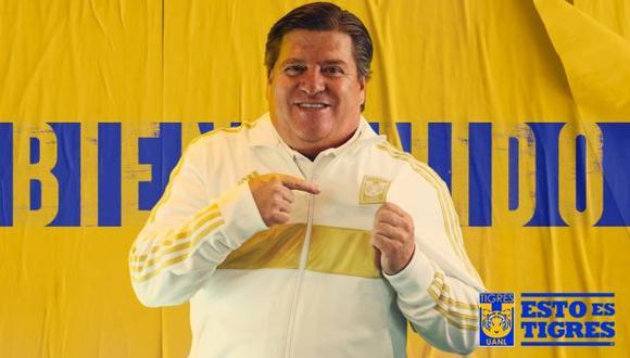 El 'Piojo' Herrera es oficialmente el nuevo técnico de Tigres. (Foto: Tigres UANL)