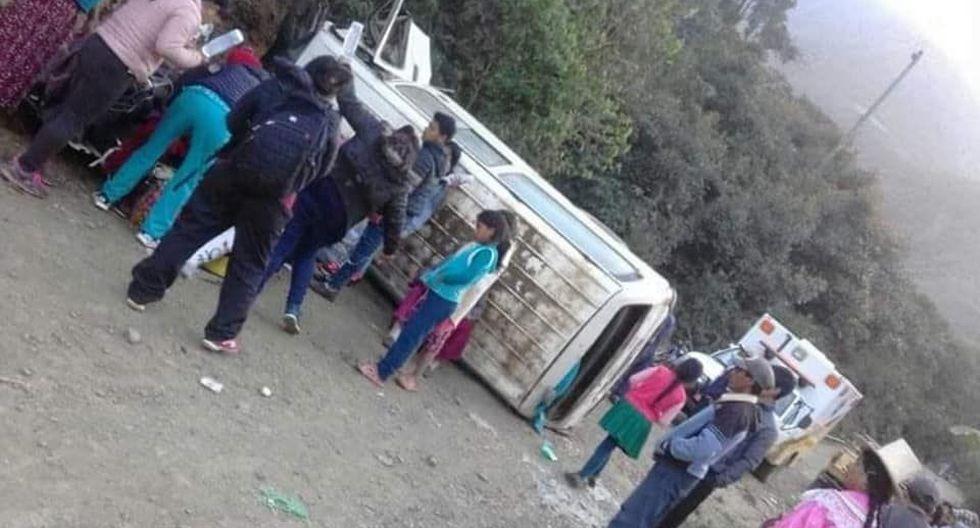 Accidente en Pamparomás (Foto: Alex Domínguez)