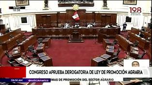 Pleno del Congreso aprobó la derogatoria de la Ley de promoción agraria
