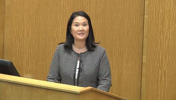 Keiko Fujimori respaldó trabajo de la CVR en Harvard