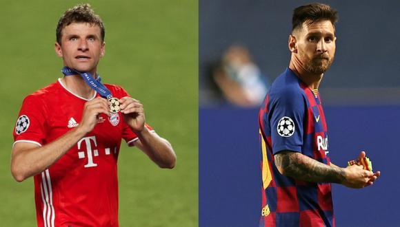 Thomas Müller expresó su deseo de que Lionel Messi llegue al Bayern Múnich. (Fotos: AFP)