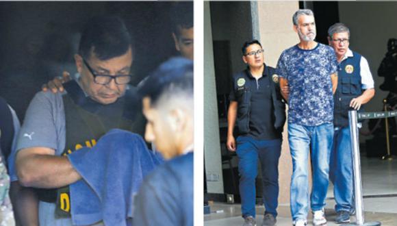 Fiscalía logró la detención de 20 de los 25 implicados en Rich Port II, entre elllos Juan Sotomayor (izquierda) y Víctor Albrecht (derecha). (Foto: GEC).