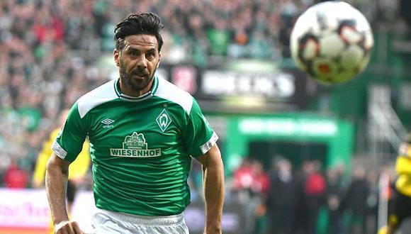Claudio Pizarro enfrentará este lunes al Bayer Leverkusen en el reinicio de la Bundesliga. (GEC)