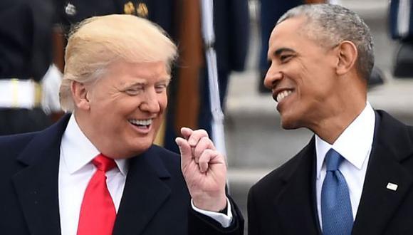 """Trump sobre Obama: """"No sé si lo admitirá, pero le caigo bien"""""""