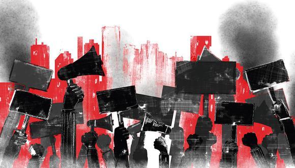 """""""Lo que no entienden los políticos y muchos empresarios es que el siglo XXI marca un punto de quiebre con respecto a todo lo que conocían como formas de organización de la sociedad"""". (Ilustración: Giovanni Tazza)."""