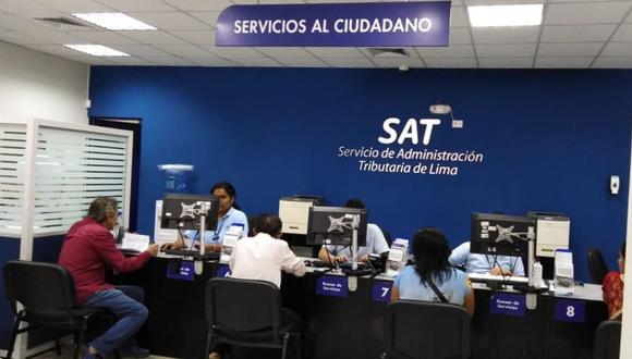 La Municipalidad de Lima señaló que se puede acceder al beneficio en cualquier local del SAT. (Difusión)