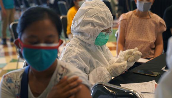 Campaña de vacunación en Indonesia. (Foto: Bloomberg)