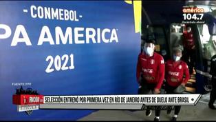 Primer entrenamiento de la selección peruana en Río de Janeiro