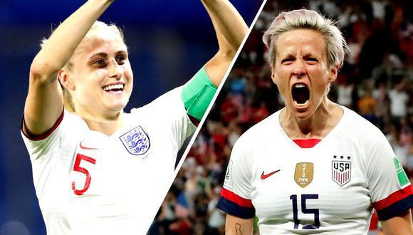 Estados Unidos vs. Inglaterra: Transmisión EN VIVO y Señal EN DIRECTO por Mundial Femenino 2019. (Foto: AFP)