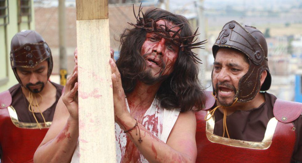 Veinticinco actores profesionales, provenientes de Lima, La Libertad y Lambayeque, y 70 invitados, todos locales, participaron del Vía Crucis de Chepén. (Foto: Johnny Aurazo)
