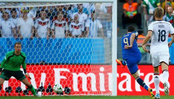 Alemania vs. Argentina: Higuaín falló clara ocasión de gol