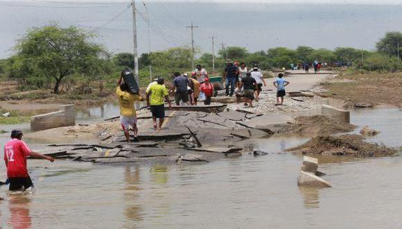 Piura: vías siguen interrumpidas debido a desastres naturales