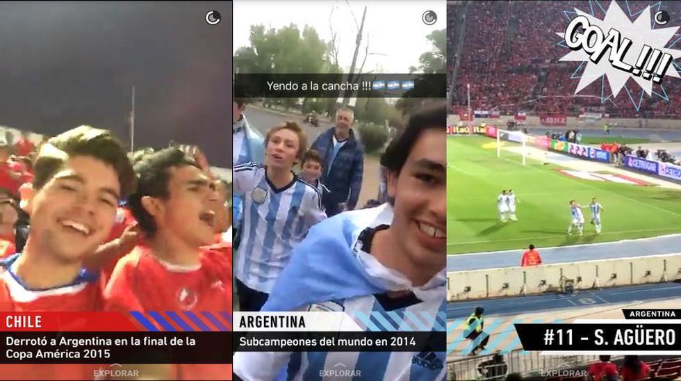 Snapchat vibró al ritmo del partido Chile vs. Argentina [FOTOS] - 1