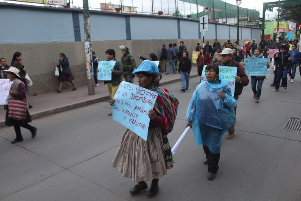 Cusco: miles marchan por segunda vez contra indulto a Fujimori. (Foto: Miguel Neyra)