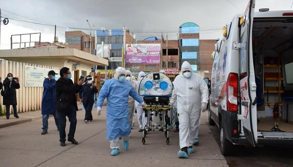 Se trata de los galenos Eloy Luque Mamani y Vladimir Ortiz Atencio, quienes se encontraban trabajando en primera línea de atención. (Foto: Hospital Carlos Monge Medrano)
