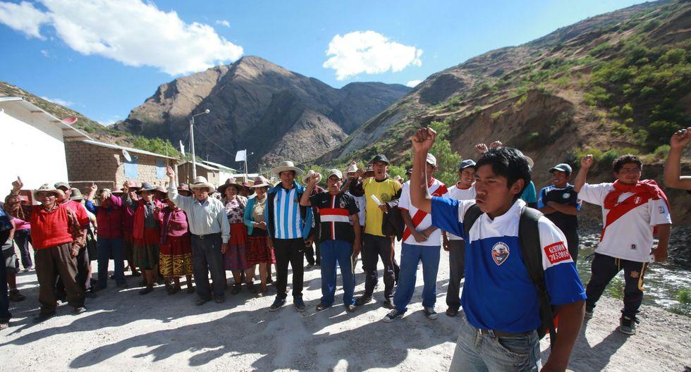 Protestas en Las Bambas. (Foto: GEC)