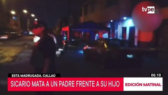 Al lugar llegaron los agentes de la Policía Nacional del Perú (PNP), quienes no descartaron que el móvil sea un posible ajuste de cuentas.  (Foto: Captura TV Perú)