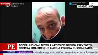 Dictan 9 meses de prisión preventiva contra sujeto que asesinó a policía en comisaría
