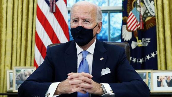 Joe Biden fue juramentado este miércoles como presidente de Estados Unidos. (Reuters).