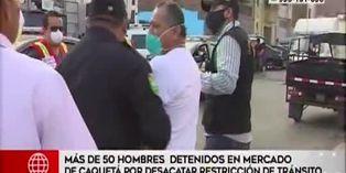 Coronavirus en Perú: más de 50 hombres fueron detenidos por desacatar restricción de tránsito