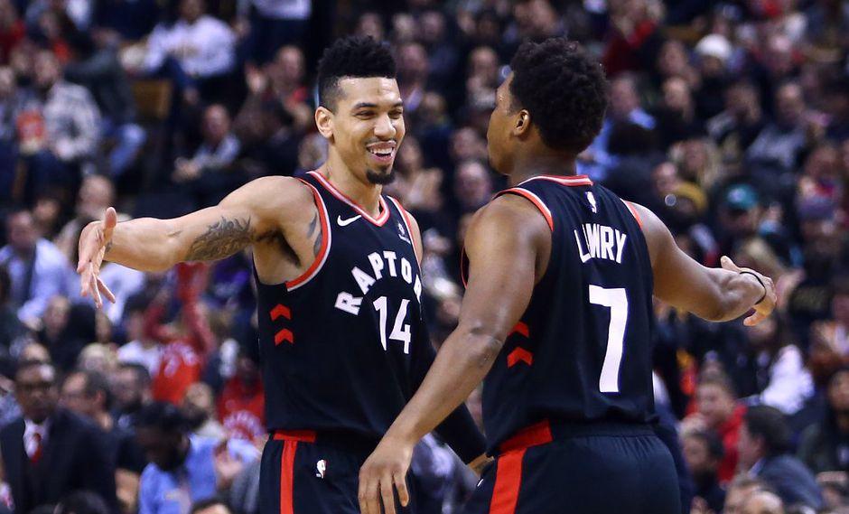 Los Raptors doblegaron con facilidad a los Grizzlies gracias a las apariciones de Danny Green y Serge Ibaka. (Foto: AFP)