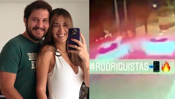 Rodrigo González difundió una grabación del preciso instante en que Silvia Cornejo chocó el auto de su esposo Jean Paul Gabuteau. (Foto: @silviacornejo87/@rodgonzalezl)