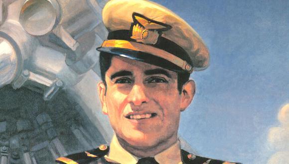 El capitán José Quiñones,  El héroe de la Fuerza Aérea Peruana, muerto durante el conflicto de 1941 con el Ecuador.