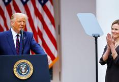 Trump celebra avance hacia la confirmación de su nominada para la Corte Suprema, Amy Coney Barrett