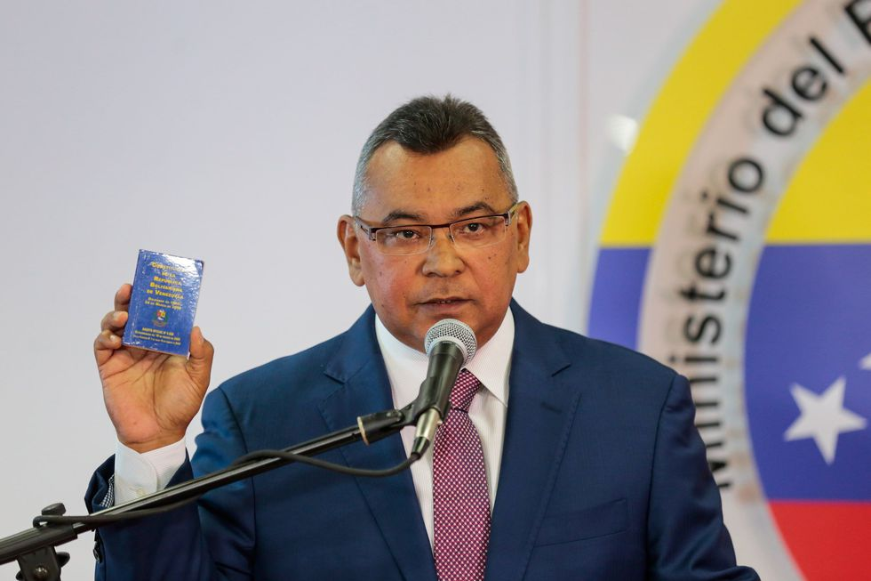 El ministro de Interior y Justicia de Venezuela Néstor Reverol. (Reuters).